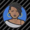 african, emo, goth, punk, woman
