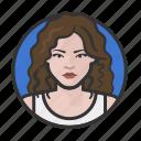 glamorous, hair, long, woman icon