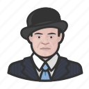 avatar, bowler hat, man, suit