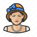 asian, cloche hat, hat, avatar, woman