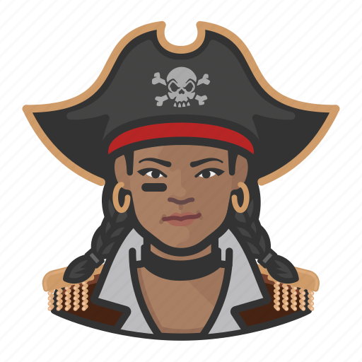 African, avatar, pirate, woman icon - Download on Iconfinder