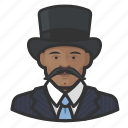 african, avatar, mustache, tophat