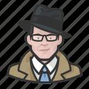 avatar, investigator, trenchcoat