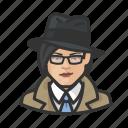 asian, avatar, investigator, trenchcoat