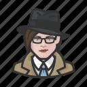 avatar, investigator, trenchcoat, woman