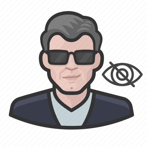 Blind, caucasian, impaired, man, vision icon - Download on Iconfinder