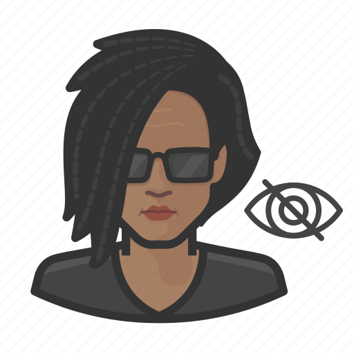 African, blind, impaired, vision, woman icon - Download on Iconfinder