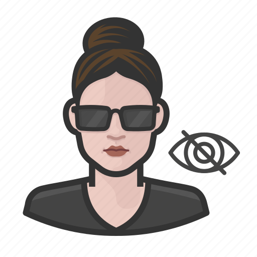 Blind, caucasian, impaired, vision, woman icon - Download on Iconfinder