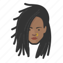 african, dreadlocks, dreads, girl, nose, ring icon