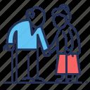 age, couple, retired, senior icon