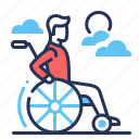 disability, disabled, man, wheelchair