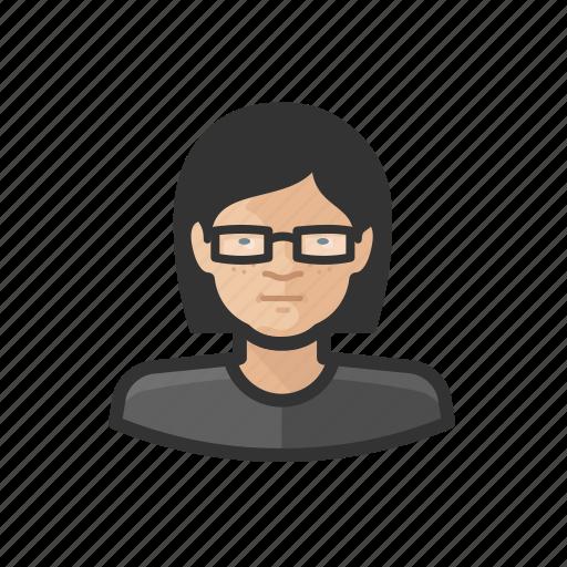 adolescent, aging, asian, avatar, female icon