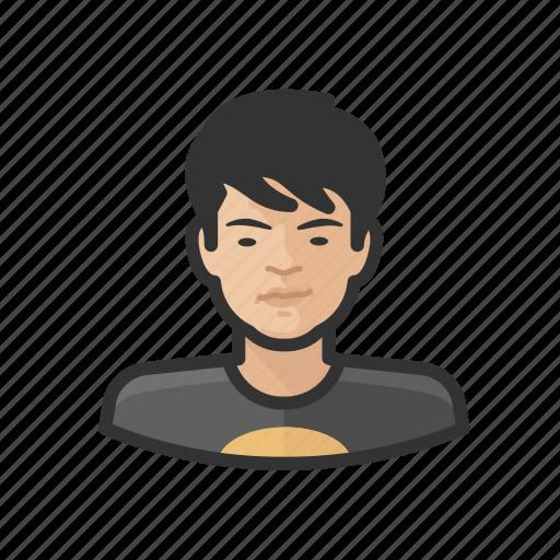 adolescent, aging, asian, avatar, male icon