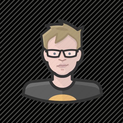 adolescent, aging, avatar, male, white icon