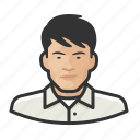 adult, asian, avatar, male icon