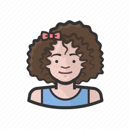 aging, avatar, child, female, white icon
