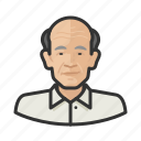 aging, asian, avatar, elderly, male icon