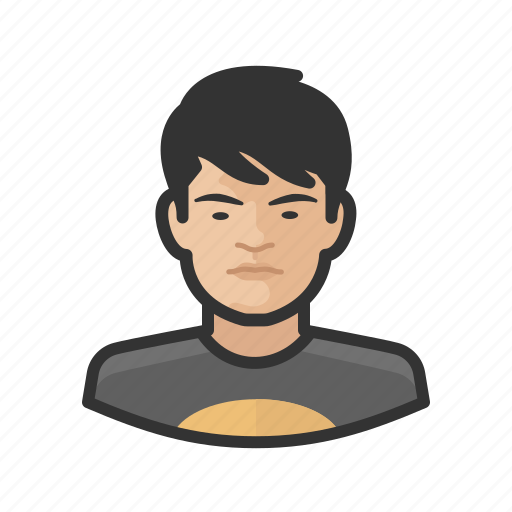 aging, asian, avatar, male, teenager icon