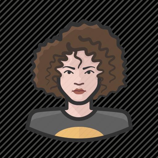aging, avatar, female, teenager, white icon
