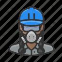 asbestos, avatar, female, hardhat, woman, worker
