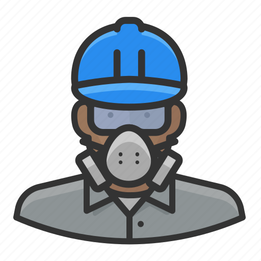 african, avatar, hardhat, male, worker icon