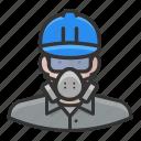 asbestos, avatar, male, man, white, worker icon