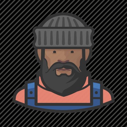 African, fisherman, man icon - Download on Iconfinder