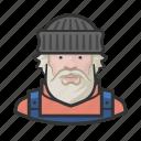 aslaskan, avatar, caucasian, fisherman, man icon