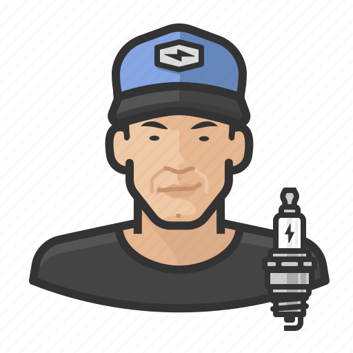 Asian, avatar, male, man, mechanic, person icon - Download on Iconfinder