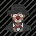 african, avatar, clown, hobo, sad, woman icon
