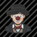 asian, avatar, clown, hobo, sad, woman icon