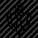 anchor, direction, location, nautical, navigation, pointer, ship anchor