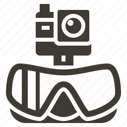 camera, diving, scuba, solid, travel, watersport, wetsuit icon