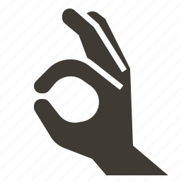 diving, finger, hand, solid, travel, watersport, wetsuit icon