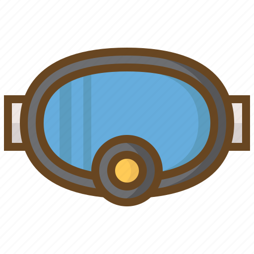 diving, goggles, marine, scuba, swimming, watersport icon