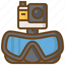 camera, diving, marine, scuba, swimming, watersport icon