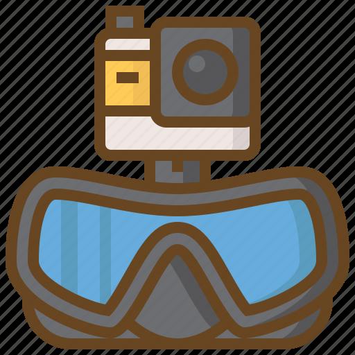 camera, diving, marine, scuba, swimming, watersport icon