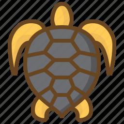 animal, diving, marine, swimming, turtle, watersport icon