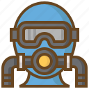 diving, goggles, marine, swimming, watersport icon