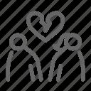 separate, couple, heart, broken, divorce, up, break icon