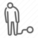 caged, impound, broken love, damage, divorce, conflict, break icon