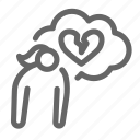 heartbroken, valentine, heart, broken, divorce, disappointed icon
