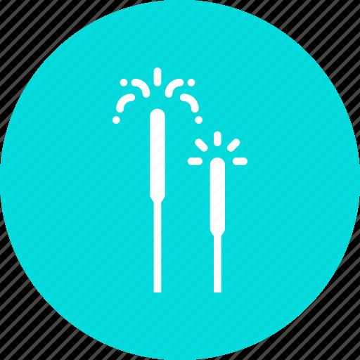 celebrate, celebration, crackers, diwali, festival, fireworks, sparkle icon