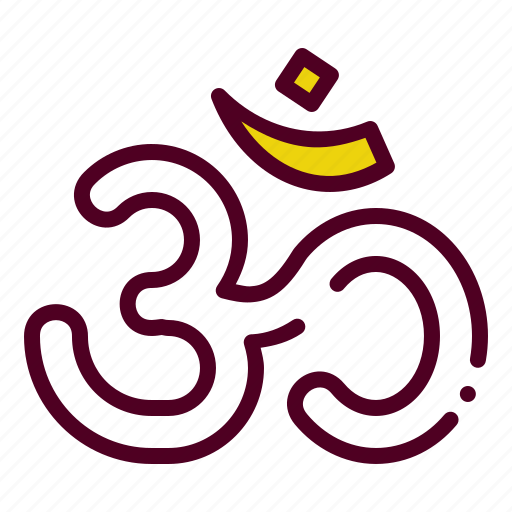 divine, hindu, holy, om, religion, sign icon