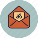 card, cover, diwali, envelope, greeting, om, wishes