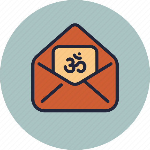 card, cover, diwali, envelope, greeting, om, wishes icon