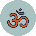 divine, hindu, holy, om, religion, sign