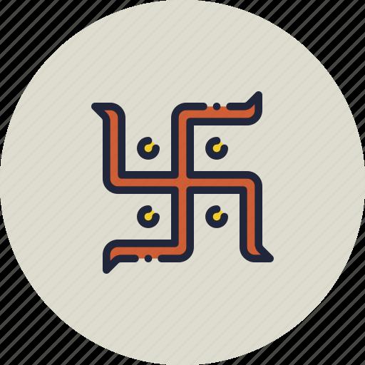 hindu, holy, indian, religion, swastik, swastika icon