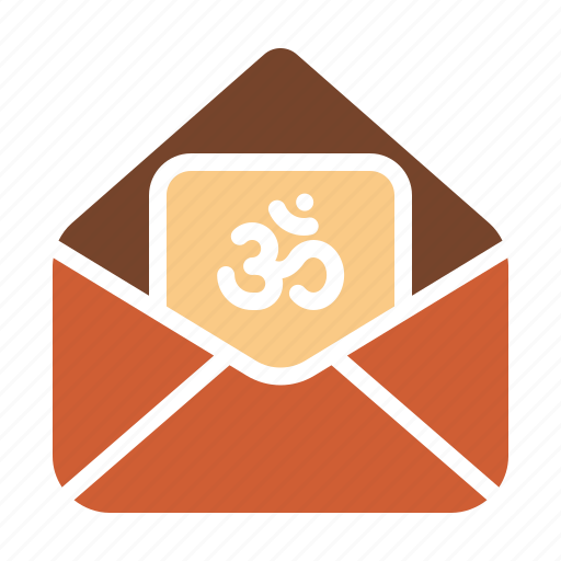 Card, cover, diwali, envelope, greeting, om, wishes icon - Download on Iconfinder