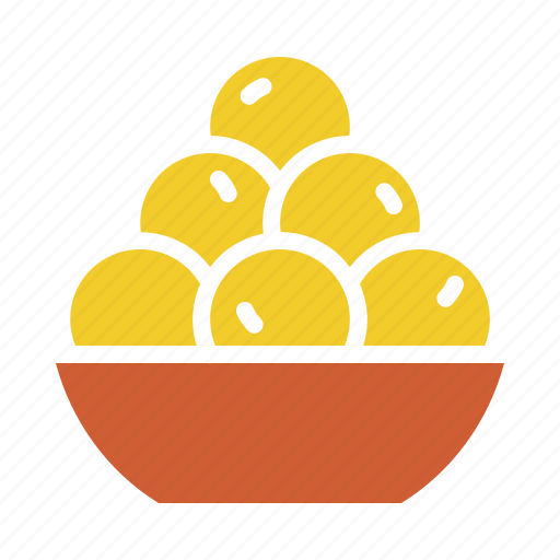 Bowl, delicacy, dessert, indian, laddu, sweet, treat icon - Download on Iconfinder
